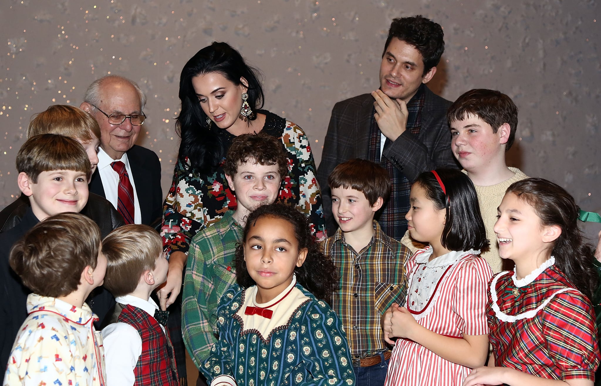 Katy Perry and John Mayer talked with the child stars.
