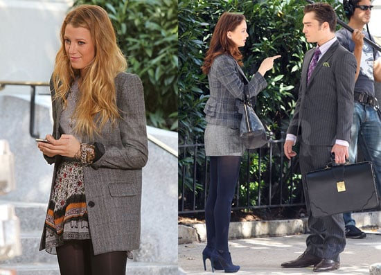 Pictures of Blake Lively, Ed Westwick, Leighton Meester, and the Cast of Gossip Girl Filming in NYC