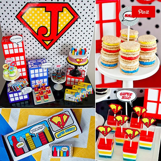 A Colorful Superhero Party