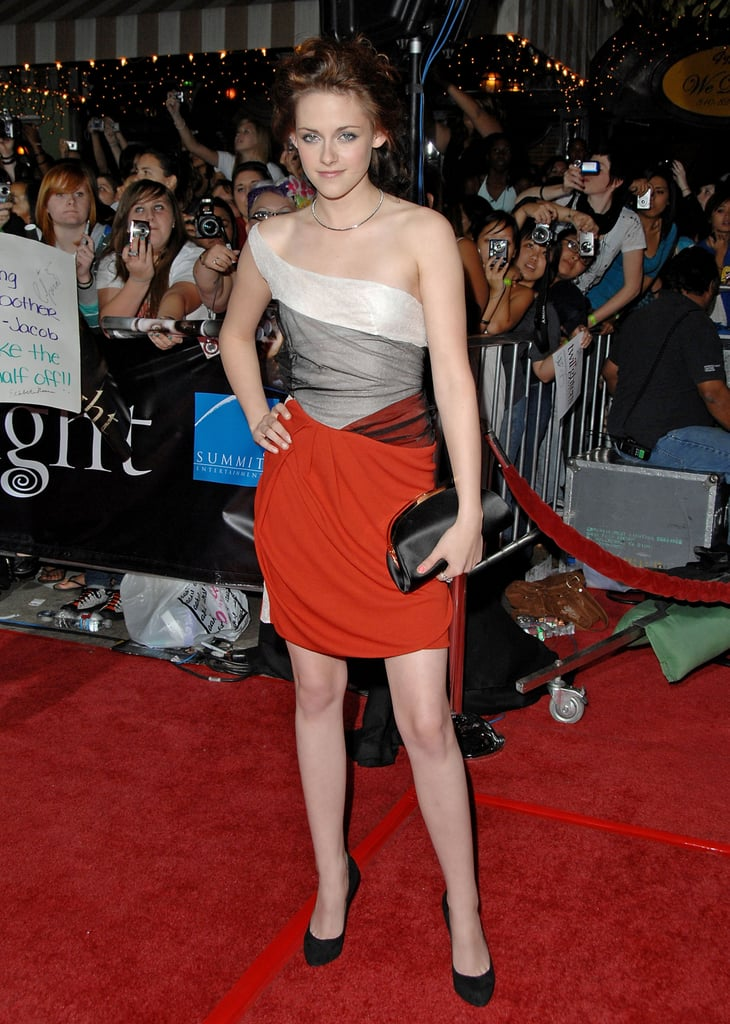 Even in 2008, Kristen Stewart could be seen wearing Balenciaga minidresses. She wore this to the LA premiere of Twilight.