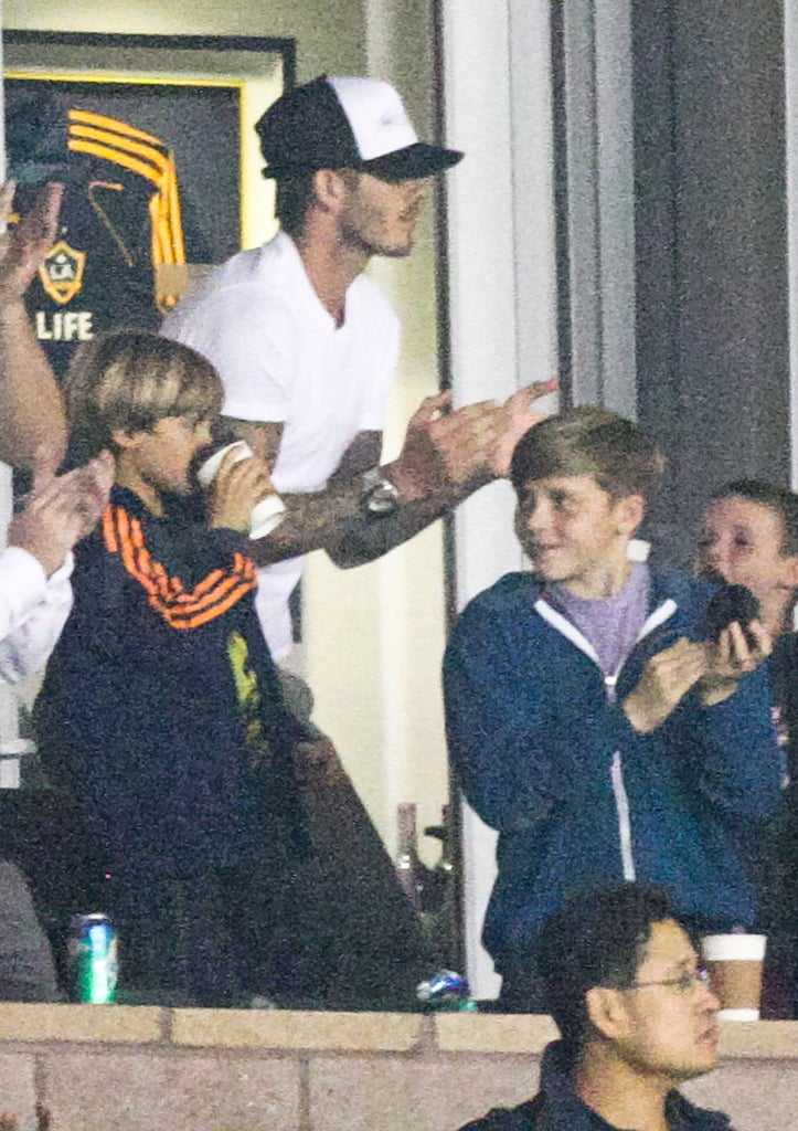 David Beckham clapped for the LA Galaxy.