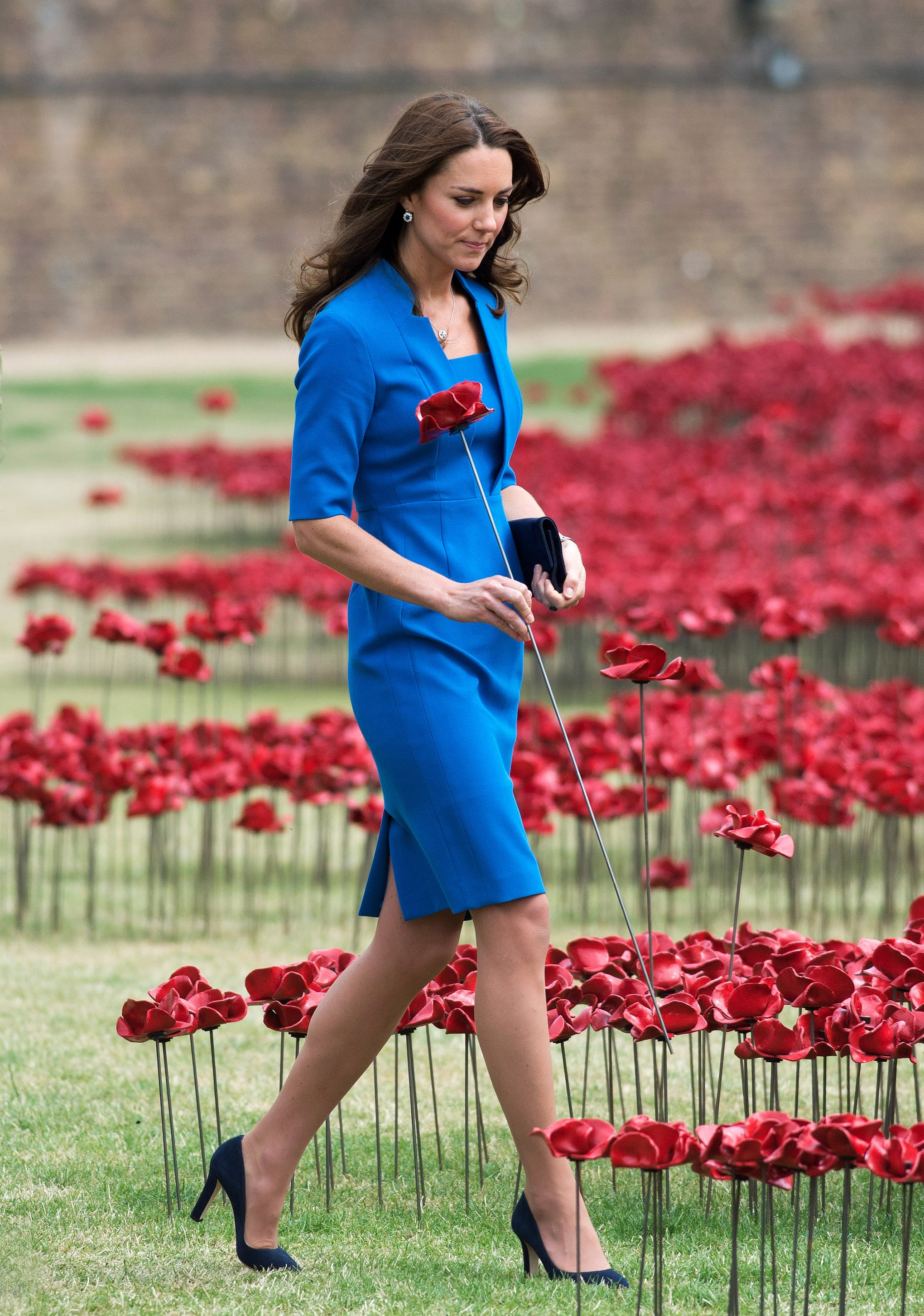 Kate Middleton at the Tower of London's Ceramic Poppy Field