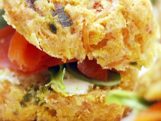 Parmesan Biscuit and Smoked Salmon Sandwich Recipe