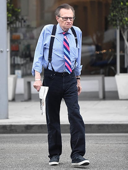 Larry King Steps Out in His Trademark Suspenders After Denying Wife Shawn's Affair and Breakup