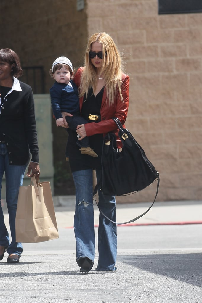 Rachel Zoe carried Skyler Berman to lunch in LA.