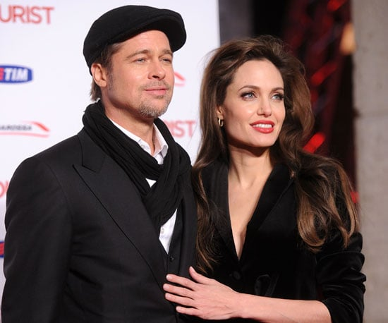 Slide Picture of Angelina Jolie and Brad Pitt and Paris Premiere of The Tourist