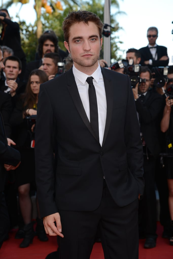 Robert Pattinson wore a black suit to the On the Road premiere at the Cannes Film Festival.