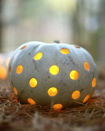 Aside: Pumpkins Go Geometric for Party Decor