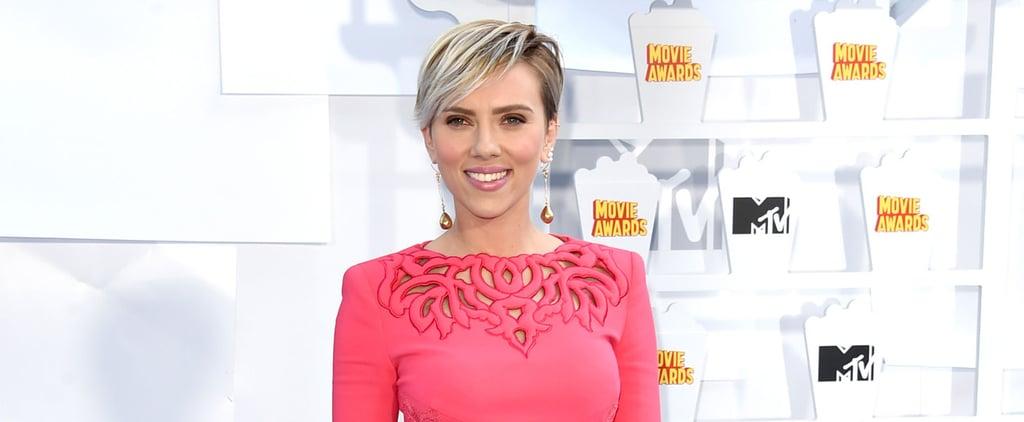 Scarlett Johansson Is a Neon Dream at the MTV Movie Awards