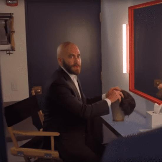 Jake Gyllenhaal Bald on Late Night With Seth Meyers