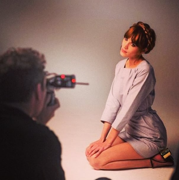 Alexa Chung reminded us of a photo shoot when she sported a superstylish crown braid. Source: Instagram user chungalexa