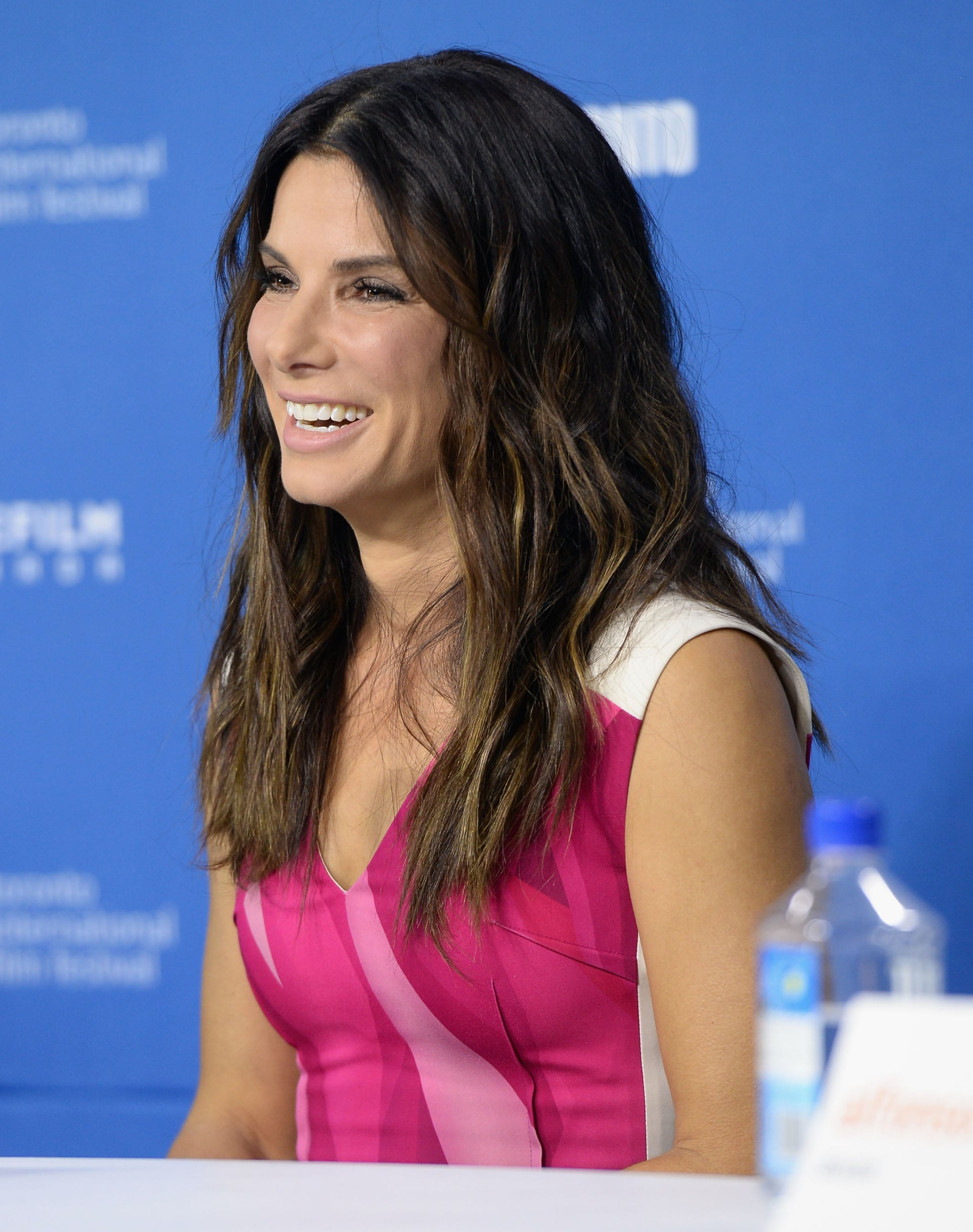 Sandra Bullock glowed during the Gravity press conference.