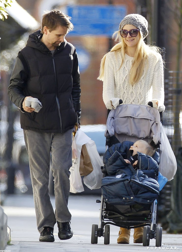 Kate Hudson pushed Bingham in his stroller on a London stroll with Matthew Bellamy.