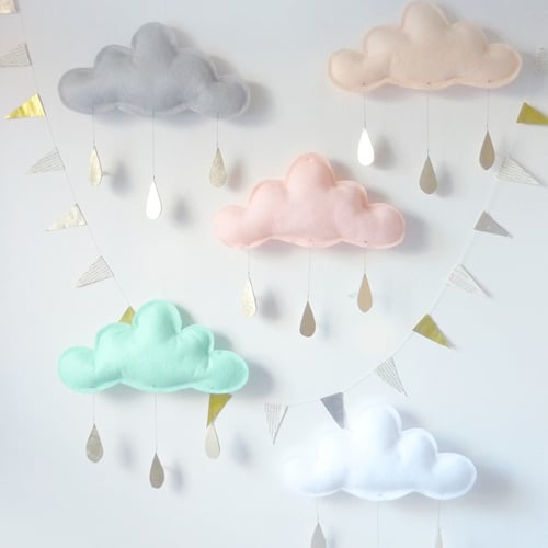 Cloud Mobiles and Pillows For Kids