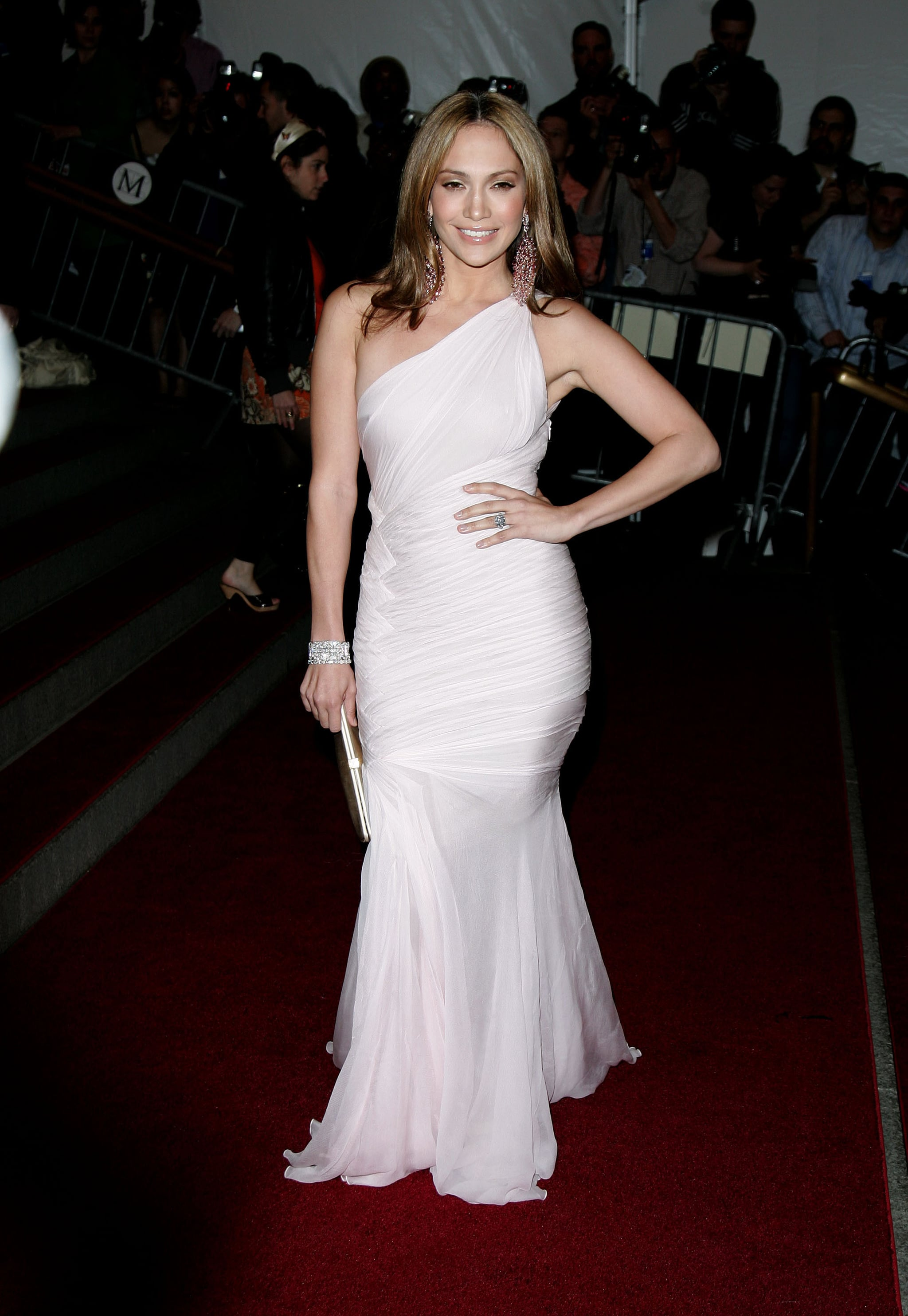 Goddess-like in a one-shouldered white gown at the Costume Institute Gala in '06.