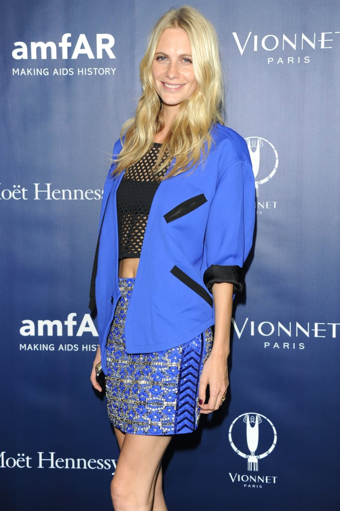 Poppy Delevingne at the amfAR Milano After Party.