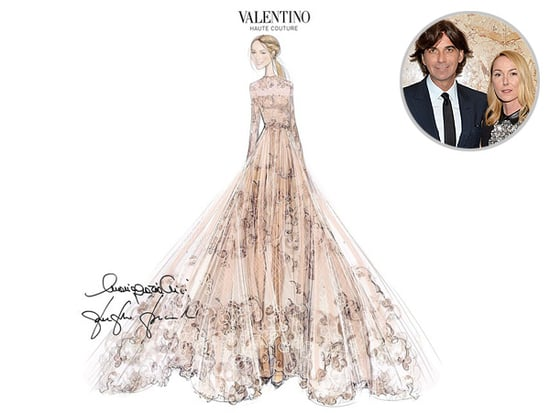 Ousted Gucci Creative Director Frida Giannini Wears (Gasp!) Valentino Wedding Gown