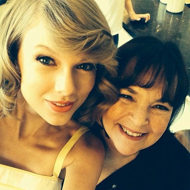 "Taylor Swift had fun cooking with her ""hero"" Ina Garten. Source: Instagram user taylorswift"