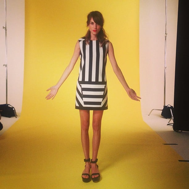 Alexa Chung looked mod for a Maje photo shoot. Source: Instagram user chungalexa