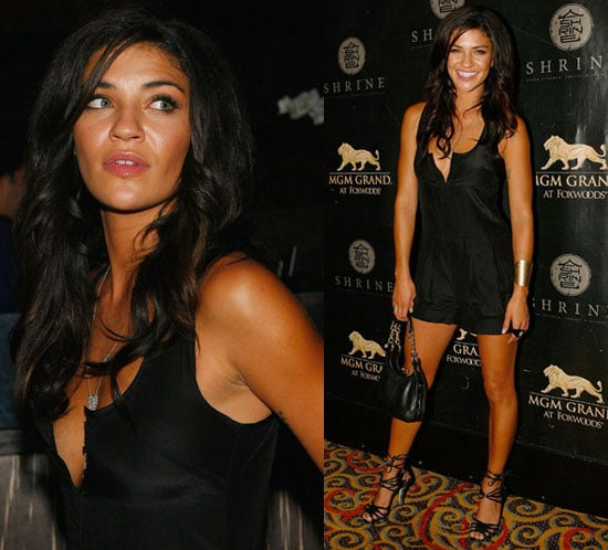 Photo of Jessica Szohr Wearing Black Jumper in Connecticut