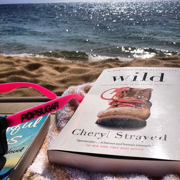 """Shannonvestal took a sandy reading break, writing, """"Beach reading day with my POPSUGAR shades."""""""