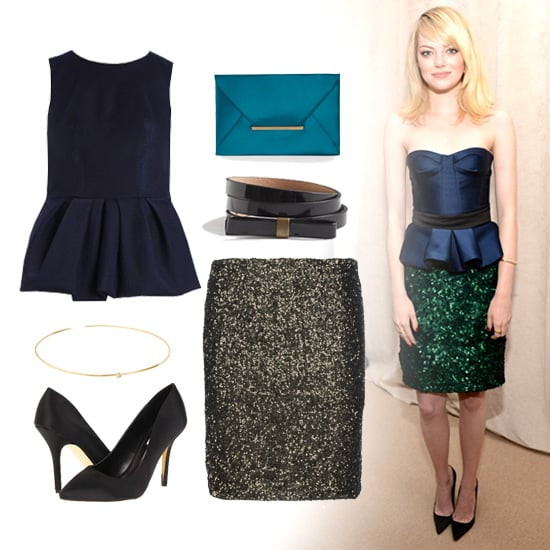 Emma Stone Peplum Top Outfit Inspiration