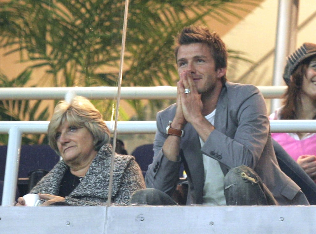 David Beckham and Sandra Beckham
