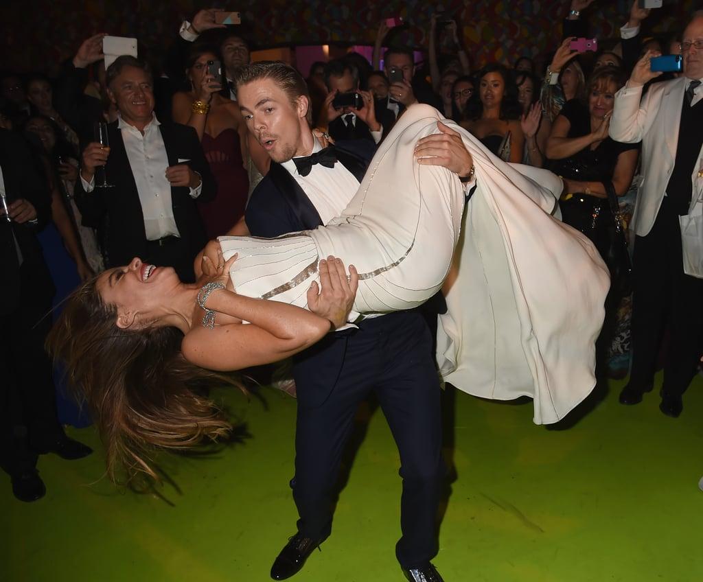 Derek Hough dipped Sofia Vergara at the HBO bash.
