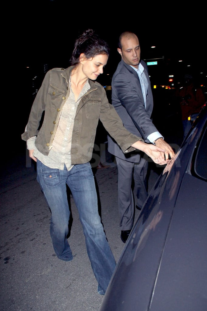 Katie Holmes got help from a chauffeur.