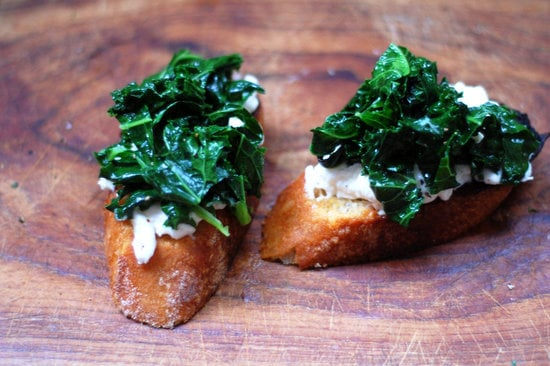 Kale and Burrata Bruschetta
