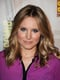 On the panel for the much-anticipated Veronica Mars movie, Kristen Bell showed off her signature beachy waves and black liner.