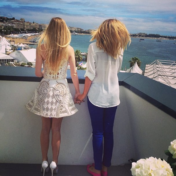 Claire Julien checked out the view in Cannes after attending a photocall for The Bling Ring. Source: Instagram user clairejulien