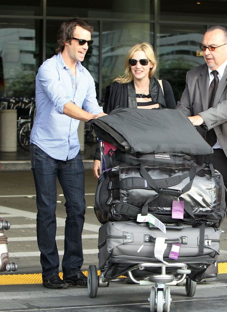 Kate and Ned traveled with lots of luggage.
