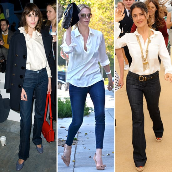 Celebs Work White Blouses With Jeans — See Who's Perfected the Classic Combo