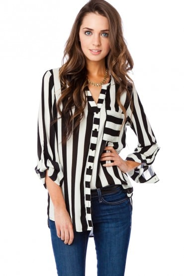 Channel Marc Jacobs's chic, stripe-filled Spring '13 collection with this Sosie Klint Blouse ($37).