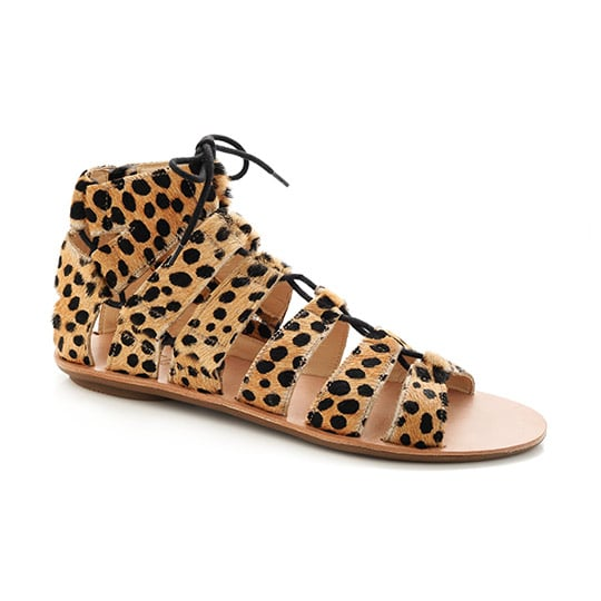 As far as I'm concerned, you can never have too many pairs of flat sandals. What I love most about  Loeffler Randall's Skye Gladiators ($250) is the bold mix of a classic lace-up silhouette with a feisty, on-trend leopard print. They'd look especially cool when paired with another pattern, like a striped shift dress or floral blouse.  — Britt Stephens