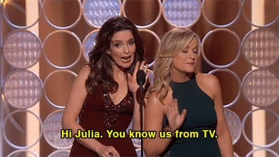 Amy and Tina Called Out Julia Louis-Dreyfus . . .