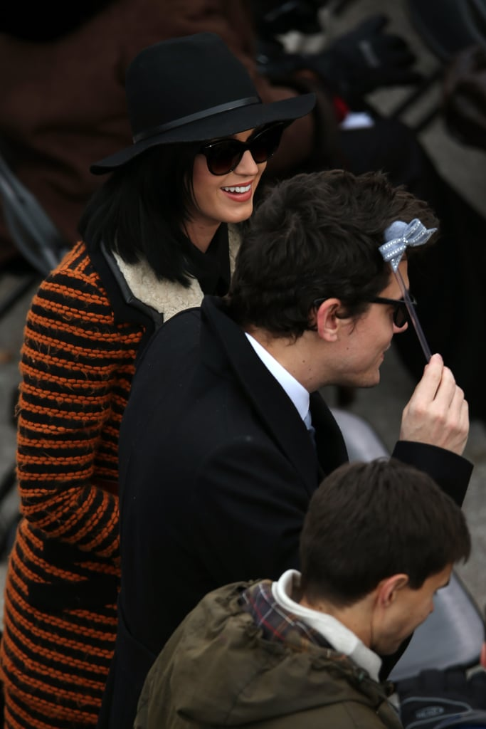 Katy Perry and John Mayer hung out in the audience with other stars at the 2013 presidential inauguration.