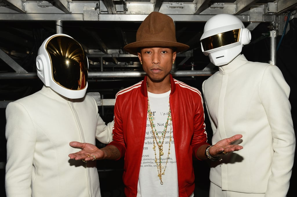 Pharrell Williams's hat outshined Daft Punk's outfits at the Grammys.