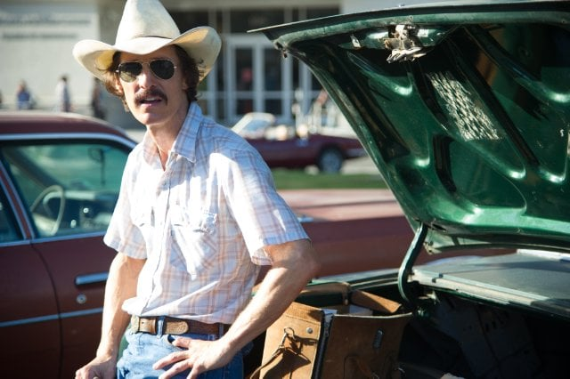 Dallas Buyers Club  What it's about: A straight Texan (Matthew McConaughey) is diagnosed with AIDS in the 1980s and begins smuggling unapproved treatments from Mexico. Soon, he's supplying not only himself, but he's begun a full-on drug ring for the afflicted. Why we're interested: This film has been on our radar ever since pictures of McConaughey's dramatic physical transformation for the role came out. I can't wait to see him in a role that showcases his talents, especially since he'll be alongside a cross-dressing Jared Leto. When it opens: Nov. 8 Watch the trailer for Dallas Buyers Club.