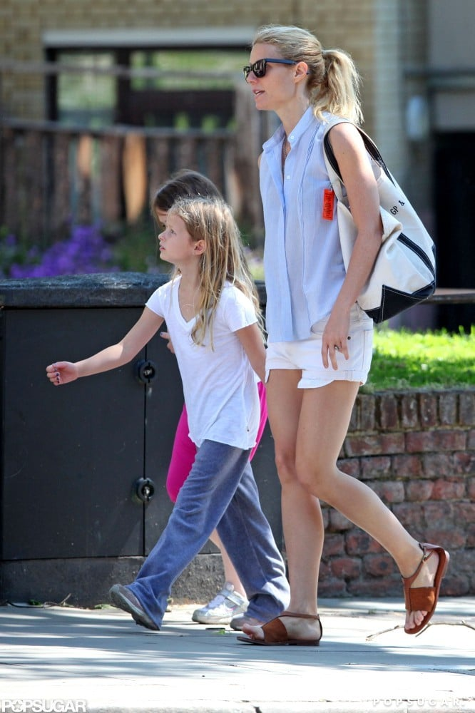 Gwyneth Paltrow held hands with Apple in London.