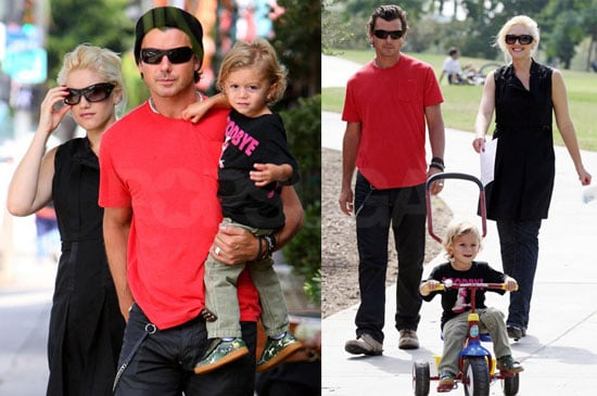 Photos of Gwen Stefani, Gavin Rossdale, Kingston Rossdale at Pan Pacific Park