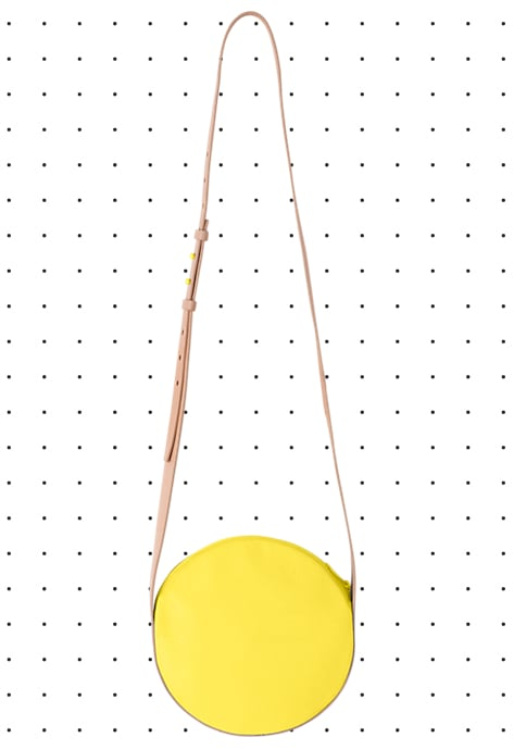 Minibags couldn't be better for warm weather — sling one on and go all day and night. I love this bright yellow Full-Circle bag ($90) from the new Kate Spade Saturday line, for not only being a perfect pop of color, but also the perfect price.  — Melissa Liebling-Goldberg
