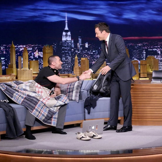 Hugh Jackman Sleeps on Jimmy Fallon's Couch