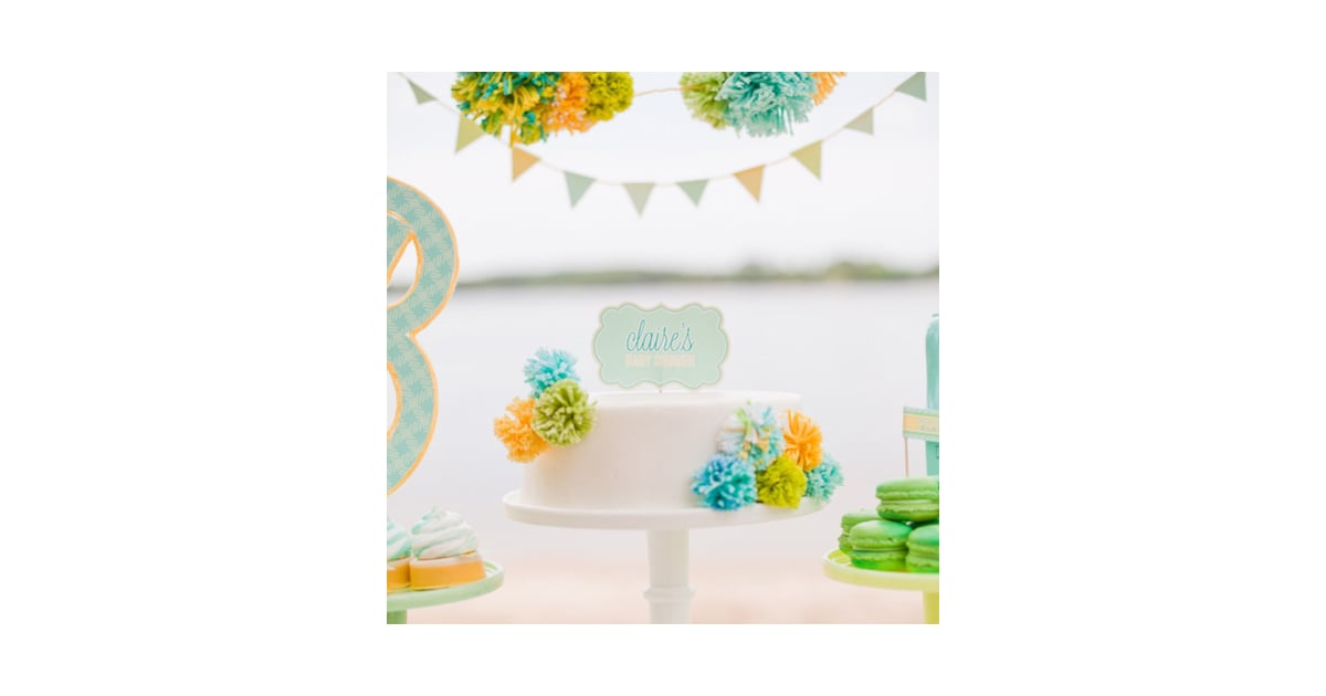 beach baby shower popsugar moms