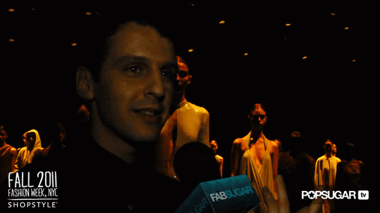 Marios Schwab Interview at Halston New York Fashion Week Fall 2011
