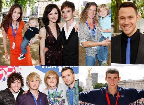Photos Of Myleene Klass, McFly, Will Young, Michael Phelps And Sophie Ellis-Bextor At London 2012 Olympic Handover Party