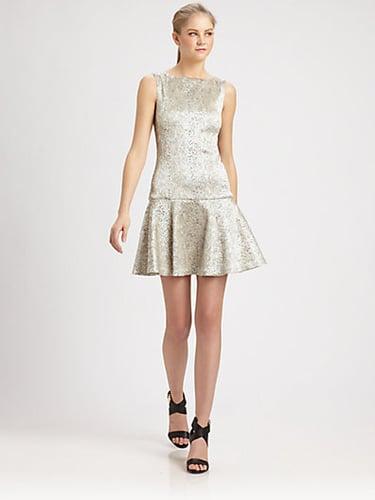 Alice + Olivia Lora Drop-Waist Pleated Dress
