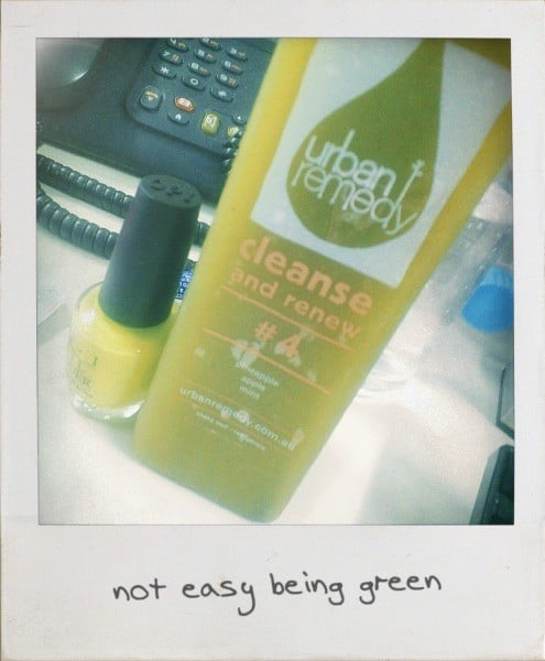 The caption says it all. Day two of my detox and I'm not loving the colour green right now (unless it be on my nails).