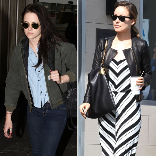 Olivia Wilde Striped Maxi Dress